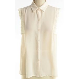Urban Outfitters DOE & RAE ivory sleeveless blouse